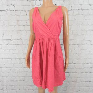 Ann Taylor LOFT pink fit and flare dress